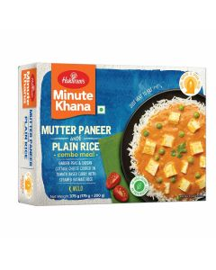 Ready To Eat Mutter Paneer With Plain Rice 375 g