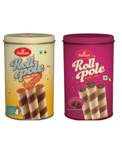 Roll Pole  Wafer Rolls and Salted Banana Caramel - Combo Pack of 2 X 150 g each
